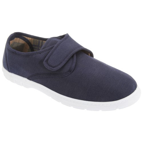 Front - Scimitar Mens Touch Fastening Casual Textile Shoes