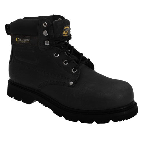 Front - Grafters Mens Gladiator Safety Boots