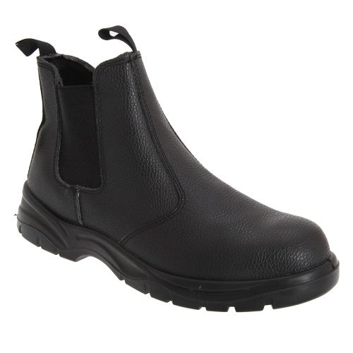 Front - Grafters Mens Grain Leather Chelsea Safety Boots