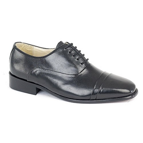 Front - Montecatini Mens Folded Cap Oxford Tie Leather Shoes