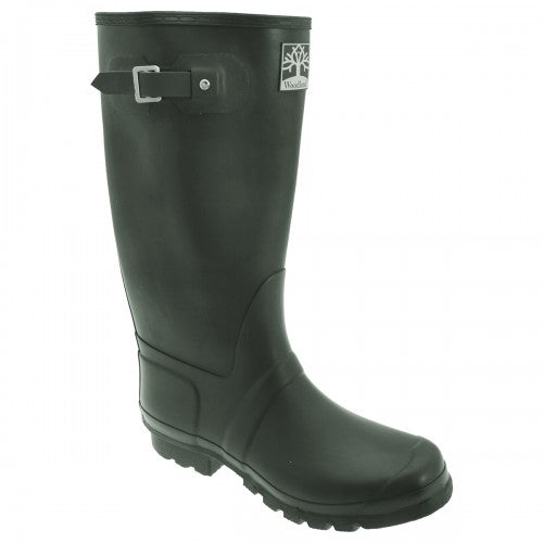 Front - Woodland Unisex Quality Strap Wide Fit Wellington Boots