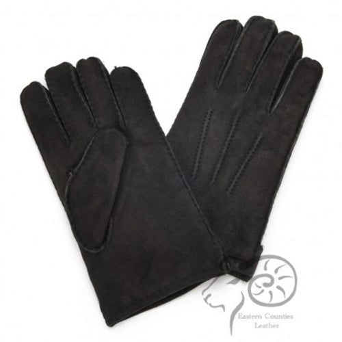 Front - Eastern Counties Leather Mens 3 Point Stitch Sheepskin Gloves