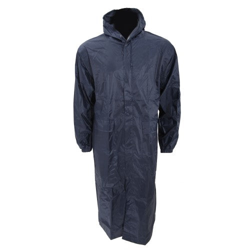 Front - Mens Long Length Waterproof Hooded Coat/Jacket