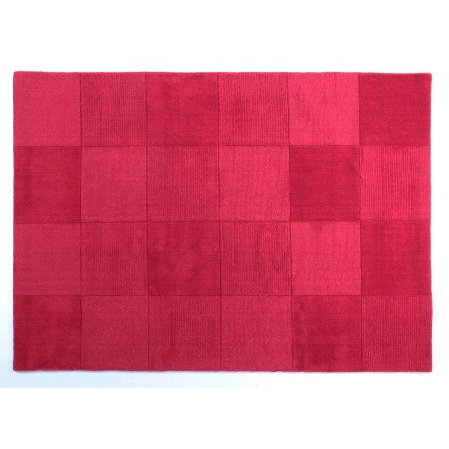 Front - Flair Rugs Wool Squares Design Floor Rug