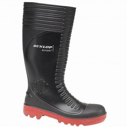 Front - Dunlop Acifort A252931 Ribbed Full Safety Wellington / Mens Boots