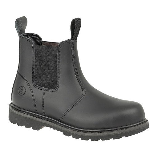 Front - Amblers Unisex Steel FS5 Pull-On Dealer Boot / Womens Mens Boots