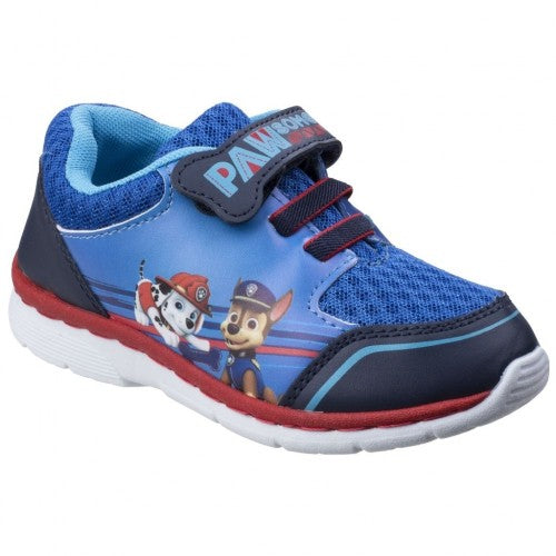 Front - Leomil Childrens Boys Paw Patrol Case And Marshall Touch Fastening Trainers