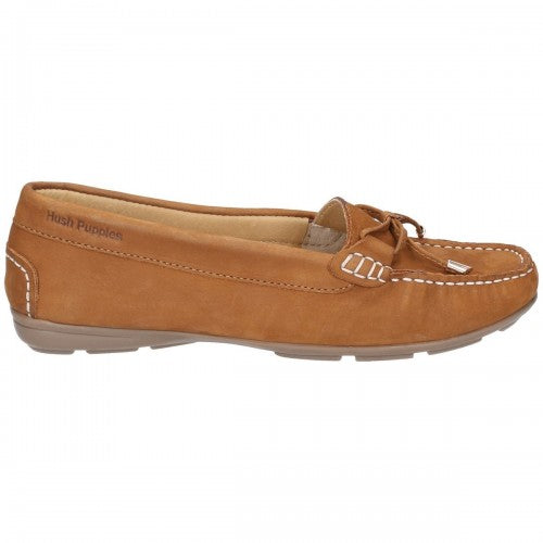 Front - Hush Puppies Womens/Ladies Maggie Slip On Moccasin