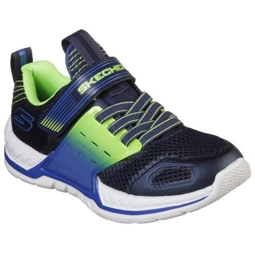 Front - Skechers Boys Nitrate 2.0 Gore & Strap Trainer