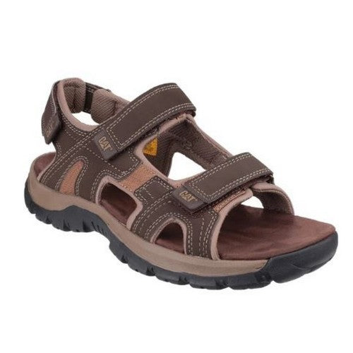 Front - Cat Lifestyle Mens Giles Leather Sandal