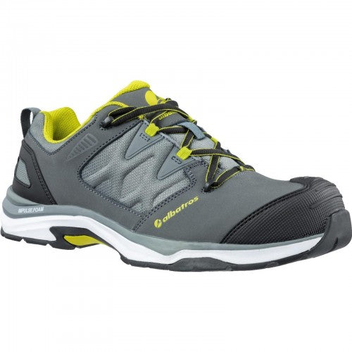 Front - Mens Leather Ultratrail Low Lace Up Safety Shoe