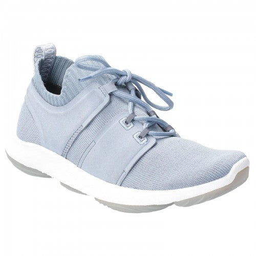 Front - Hush Puppies Womens World BounceMax Lace Up Trainer