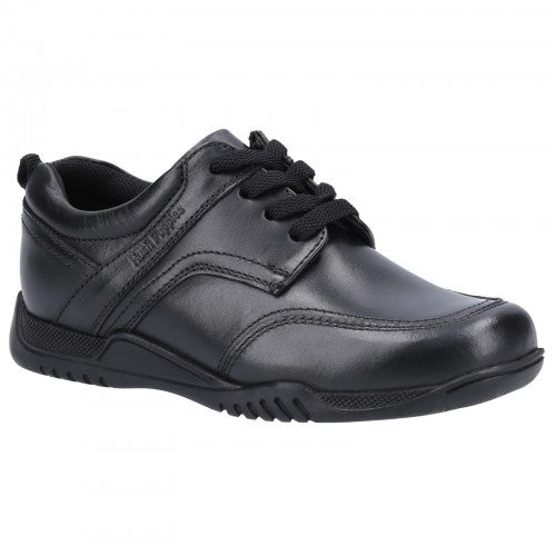 Front - Hush Puppies Boys Harvey Leather School Shoes