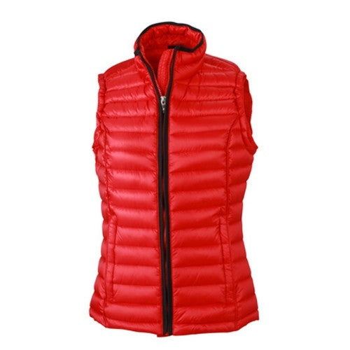 Front - James and Nicholson Womens/Ladies Quilted Down Vest