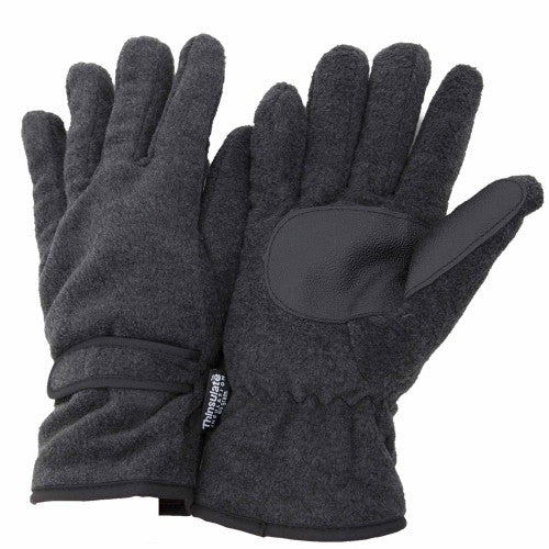 Front - FLOSO Mens Thinsulate Thermal Fleece Gloves With Palm Grip (3M 40g)