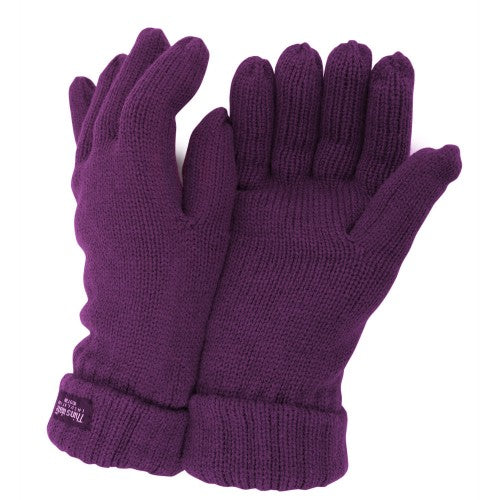 Front - FLOSO Ladies/Womens Thinsulate Winter Knitted Gloves (3M 40g)