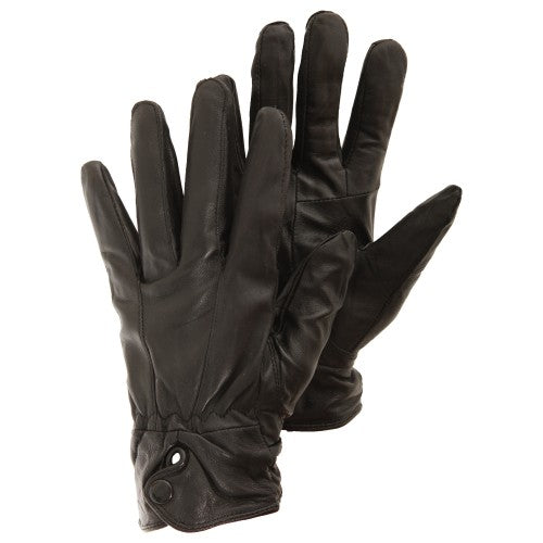Front - Ladies/Womens Plain Genuine Leather Gloves