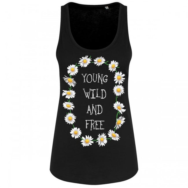 Front - Grindstore Young Wild & Free Ladies Floaty Tank