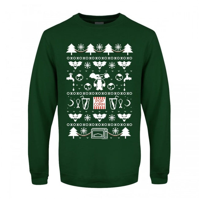 Front - Grindstore Mens Mogwai Pattern Christmas Sweater