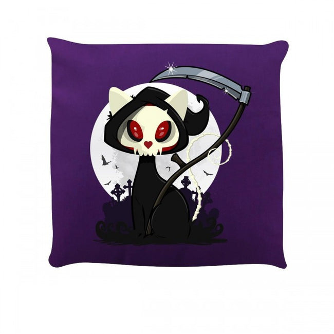 Front - Grindstore Beelzebub The Cat Reaper Cushion