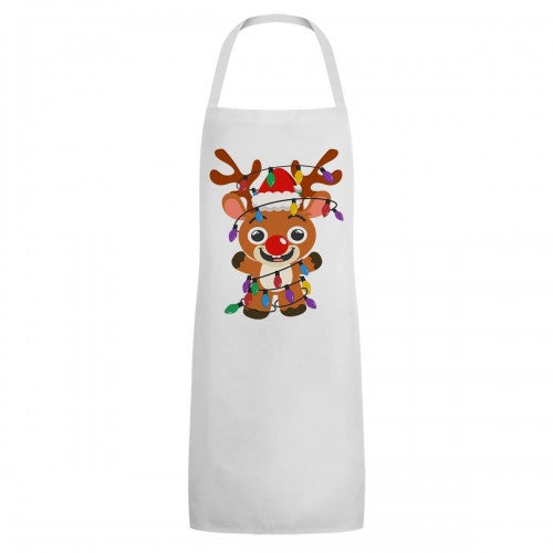 Front - Grindstore Unisex Adult Festive Rudolph Full Apron