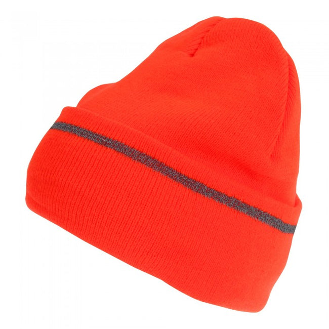 Front - Pro Climate Mens Hi-Vis Reflective Thinsulate Beanie Hat