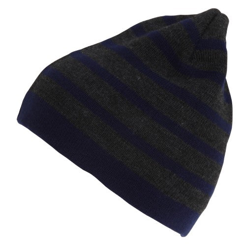 Front - Mens Striped Beanie