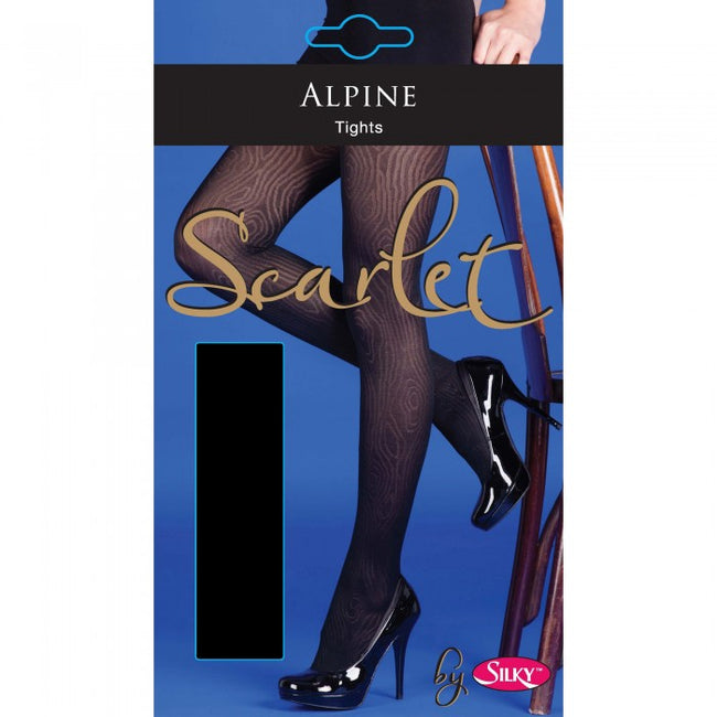 Front - Silky Womens/Ladies Scarlet Alpine Design Tights (1 Pair)