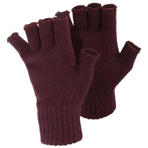 Front - FLOSO Ladies/Womens Winter Fingerless Gloves
