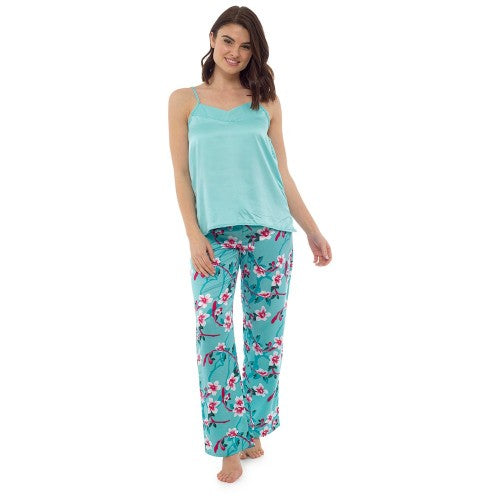 Front - Wolf And Harte Ladies/Womens Floral Pyjama Set