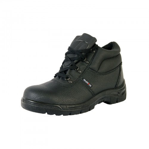Front - Warrior Mens Chukka Work Safety Boots