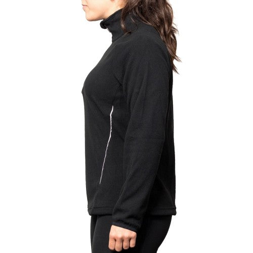 Front - Canterbury Womens/Ladies Team Zip Neck Micro Fleece