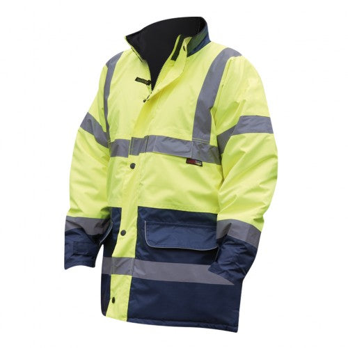 Front - Warrior Mens Denver High Visibility Safety Jacket