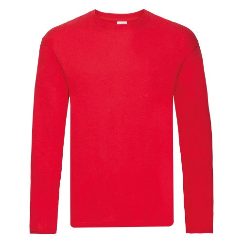 Front - Fruit Of The Loom Mens Original Long Sleeve T-Shirt