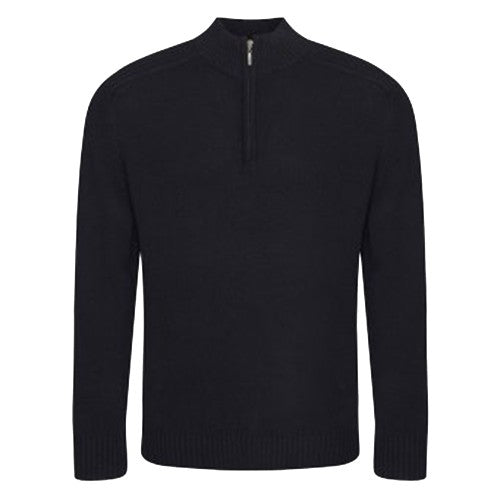 Front - Ecologie Mens Wakhan Zip Neck Sweater