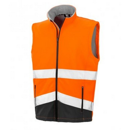 Front - Result Adults Safe-Guard Printable Safety Soft Shell Gilet
