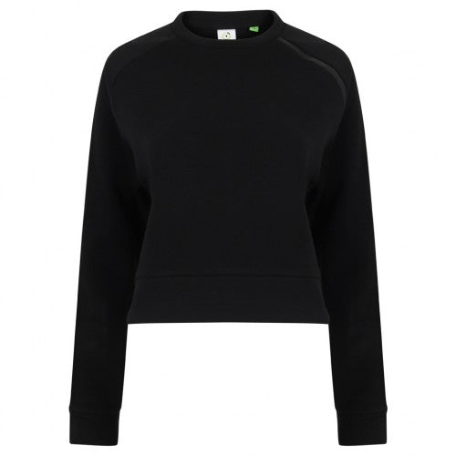 Front - Tombo Womens/Ladies Cropped Sweatshirt