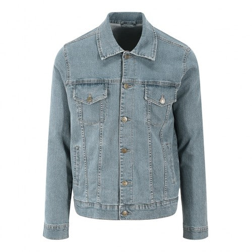 Front - So Denim Mens Noah Denim Jacket