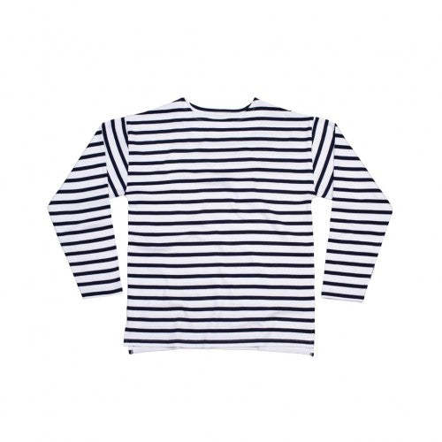 Front - One By Mantis Unisex Adults Long Sleeve Breton Stripe T-Shirt