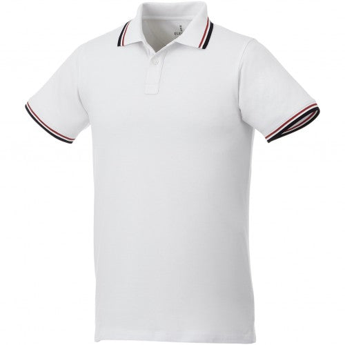 Front - Elevate Mens Fairfield Polo With Tipping