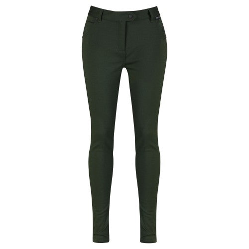 Front - Regatta Great Outdoors Womens/Ladies Seren Stretch Treggings