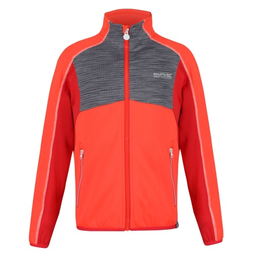 Front - Regatta Childrens/Kids Oberon II Full Zip Stretch Midlayer