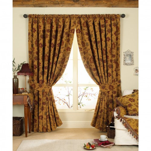 Front - Riva Home Zurich Pencil Pleat Curtains