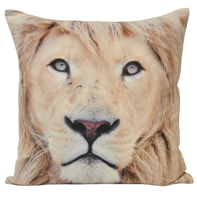 Front - Riva Home Animal Lion Cushion Cover