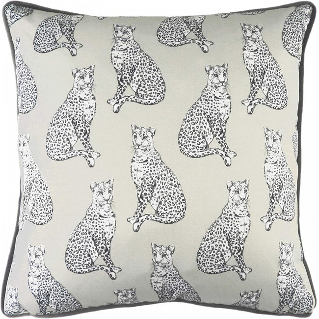 Front - Evans Lichfield Safari Leopard Monochrome Cushion Cover