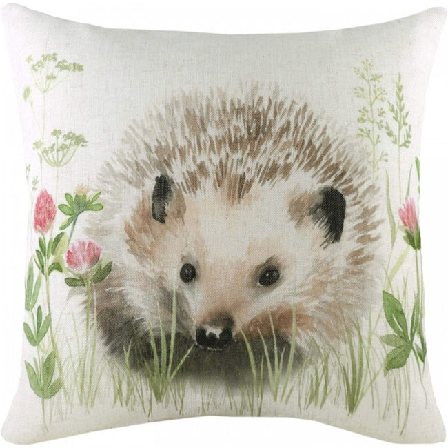 Front - Evans Lichfield Hedgerow Hedgehog Cushion Cover