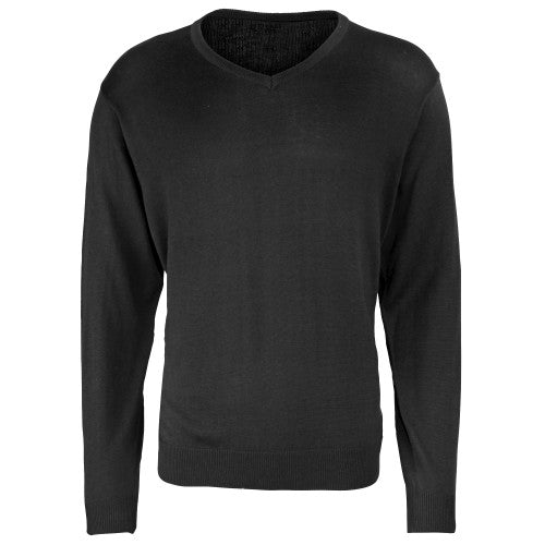 Front - Premier Mens V-Neck Knitted Sweater