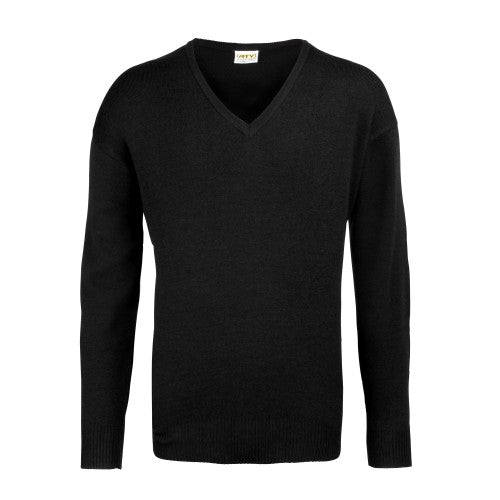 Front - RTY Workwear Mens V-neck Arcylic Wool Sweater / Sweatshirt