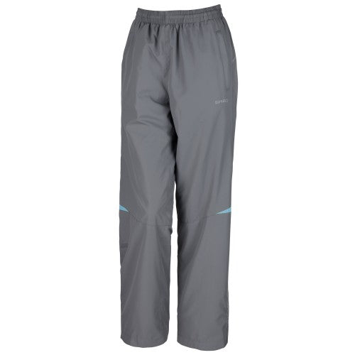 Front - Spiro Womens/Ladies Micro-Lite Performance Sports Pants / Tracksuit Bottoms
