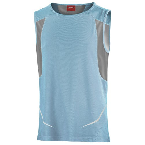 Front - Spiro Mens Sports Athletic Vest Top